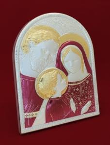 Икона от сребро Светото Семейство - 501074