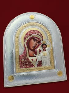 Икона от сребро Богородица - 501075