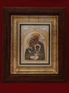 Икона от сребро Светото Семейство - 501081