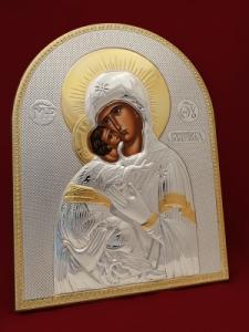 Икона от сребро Мадона с Младенеца - 501088