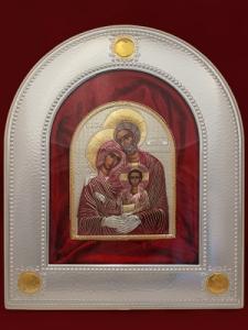 Сребърна икона Светото Семейство - 501091