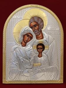 Сребърна икона Светото Семейство - 501093