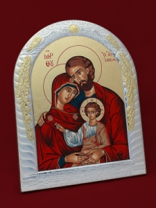 Сребърна икона Светото семейство - 501041