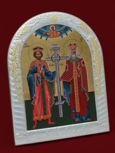 Сребърна икона на Свети Константин и Елена - 501047