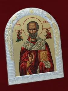 Икона от сребро Свети Никола - 501132