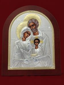 Сребърна икона Светото семейство - 501147