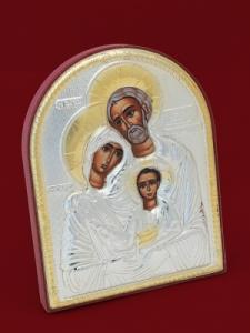 Икона от сребро Светото Семейство - 501123