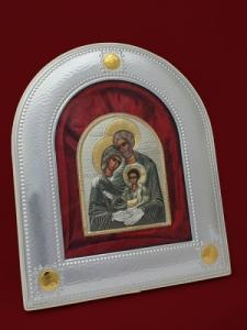 Икона от сребро Светото Семейство - 501155