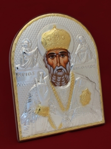 Сребърна икона Свети Никола - 501110