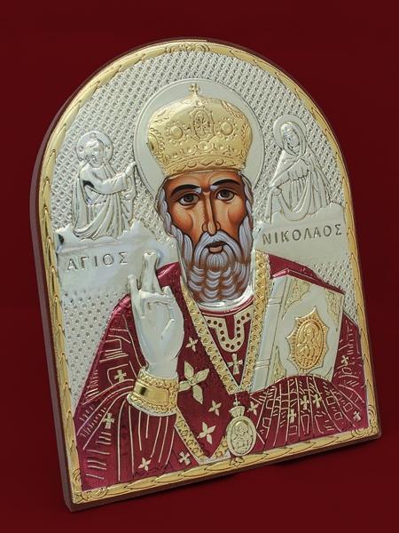 Икона от сребро Свети Никола - 501140