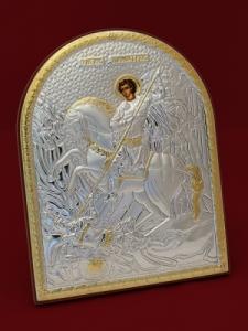 Сребърна икона Свети Димитър - 501143