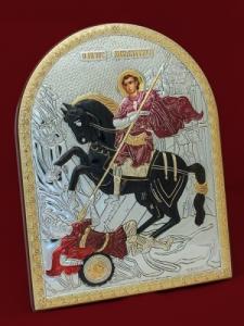Икона от сребро Свети Димитър - 501138