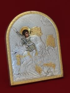 Икона от сребро Свети Георги - 501109