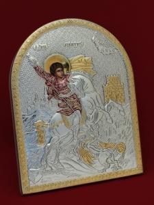 Сребърна икона Свети Георги - 501137