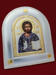 Сребърна икона на Исус Христос - 501153