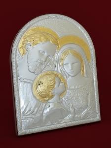 Сребърна икона на Светото Семейство - 501107