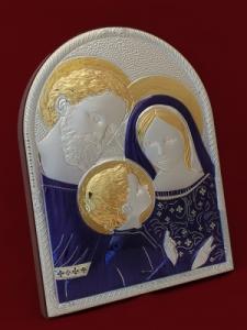 Икона от сребро на Светото семейство - 501129