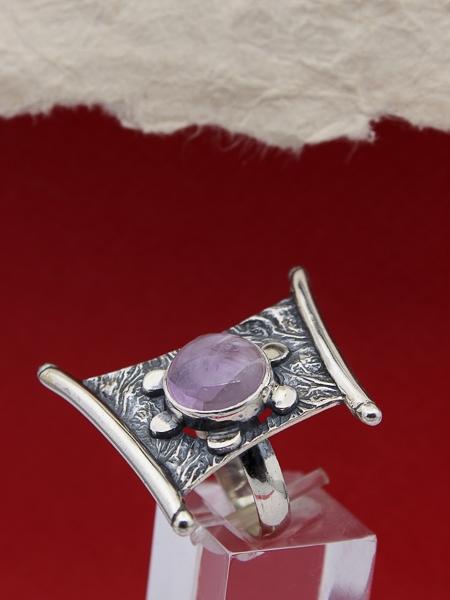 Сребърен пръстен RKWS50 - Аметист