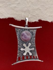 Сребърен медальон PKWS50 - Аметист