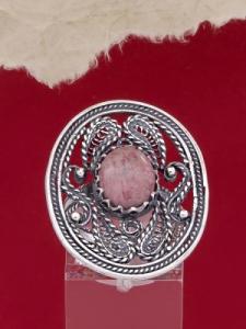 Сребърен пръстен FRK97 - Родонит