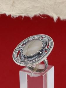 Сребърен пръстен FRK97 - Лунен ахат