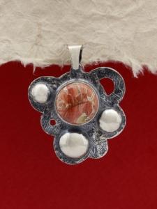 Медальон от сребро  PKWS1 - Брекча яспис