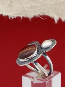 Пръстен от сребро RKWS1 - Пейзажен яспис