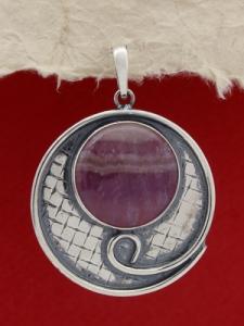 Медальон от сребро PKWS2 - Аметист