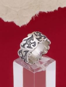 Сребърен пръстен R206