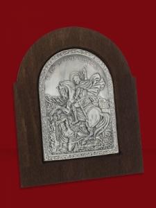 Икона от сребро Свети Димитър - 501163