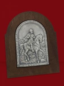 Икона от сребро Свети Мина - 501169