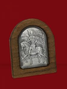 Икона от сребро Свети Димитър - 501175