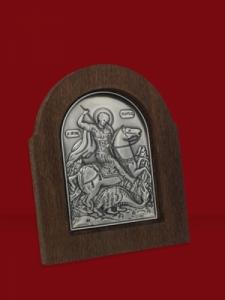 Икона от сребро Свети Георги - 501173