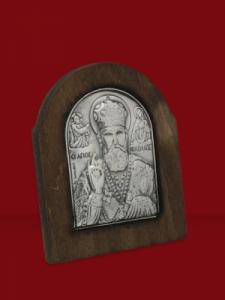 Икона от сребро Николай Чудотворец - 501176