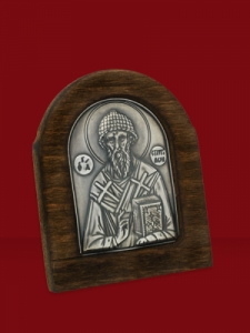 Сребърна икона Свети Спиридон - 501180