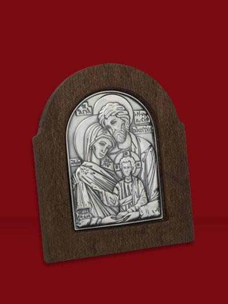 Сребърна икона на Светото семейство - 501178