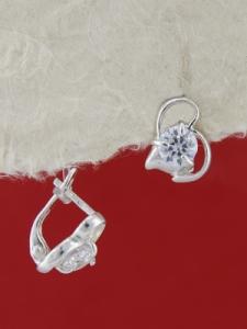 Сребърни обеци E114244