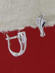 Сребърни обеци E114988
