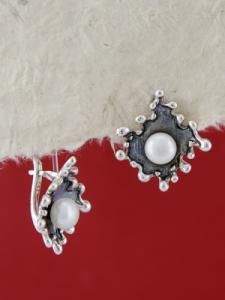 Сребърни обеци E115869