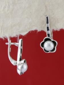 Сребърни обеци E115946