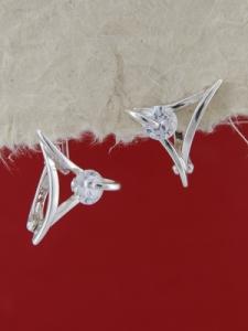 Сребърни обеци E121322