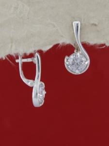 Сребърни обеци E121490