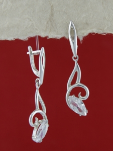 Сребърни обеци E121893
