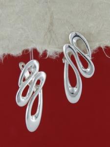 Сребърни обеци E132355