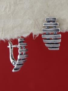 Сребърни обеци E132959
