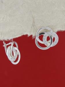 Сребърни обеци E137927