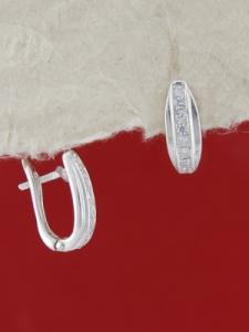 Сребърни обеци E138024