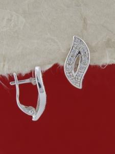 Сребърни обеци E138627