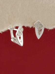Сребърни обеци E138976