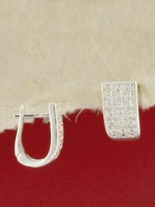 Сребърни обеци E139219